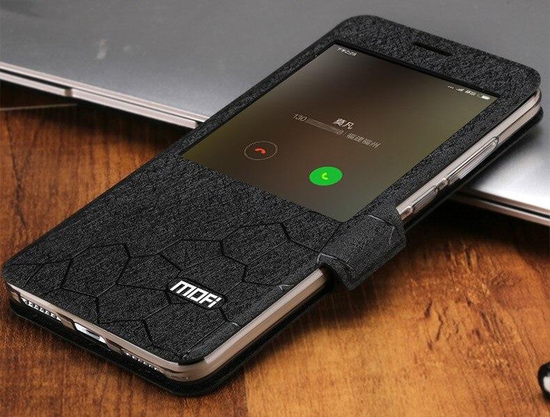 bilder für Mofi original xiaomi redmi note 4x3 gb 32 gb case abdeckung leathe flip fenster luxus xiaomi redmi note 4 4x case silikon
