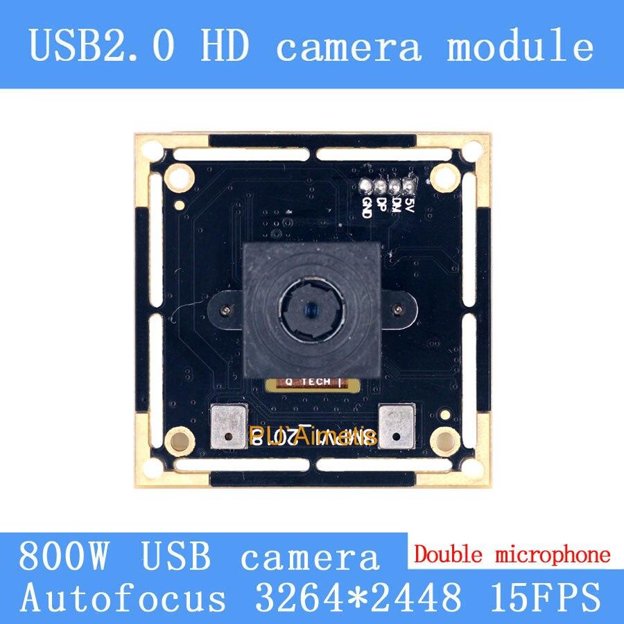 USB2.0 Mini caméra de vidéosurveillance HD 800 W SONY IMX179 niveau industriel près de la télécommande AF Autofocus USB module de caméra double support audio