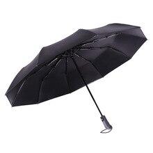 New large Fully-automatic Sun Umbrella Business Men Folding Umbrellas Sunscreen Anti UV Parasol Windproof