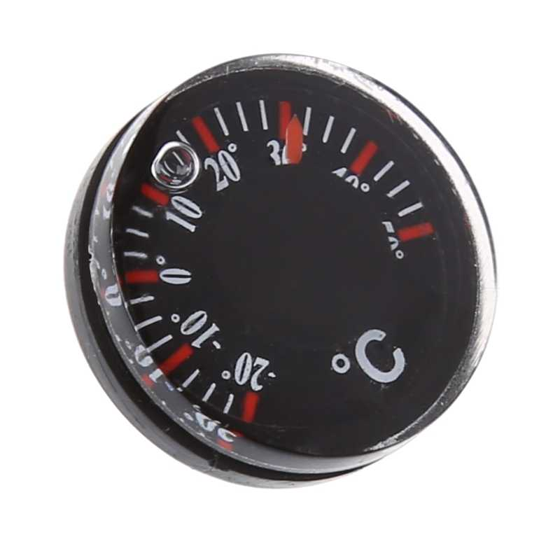 Diameter 20mm Plastic Thermometer Outdoor Circular Thermograph Celsius Indoor