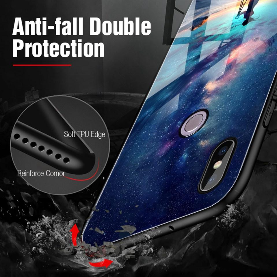 Tempered Glass Case For Xiaomi Redmi 6A Note 5 6 Pro Global 5 Plus 4X Cover Pattern Xiomi Phone Case for Xiaomi Mi A2 Lite A1 5X (6)