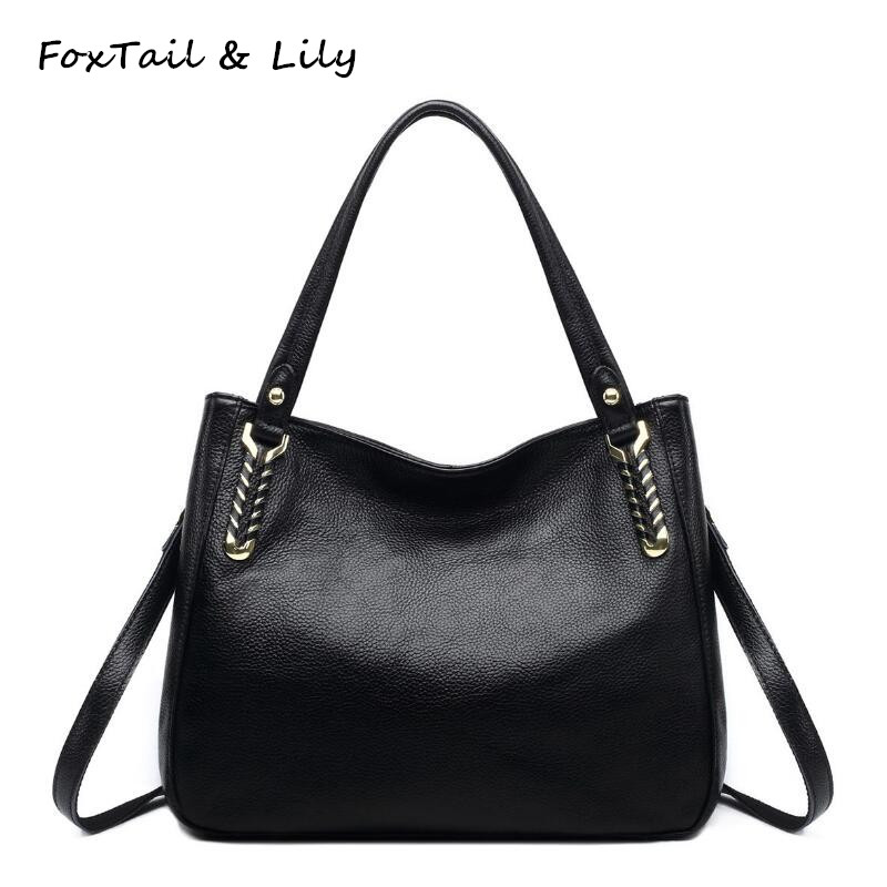 FoxTail & Lily Knitting Bag Women Real Leather Tote Shoulder Bags Designer Handbags High Quality Genuine Leather Crossbody Bag zooler genuine leather genuine real cowhide small handbags high quality brand women plaid shoulder bags chain tote crossbody bag