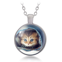 2017 Top Fashion Real Collares Collier Sell Meng Pet Pendant Necklace Chain Retro Fashion Declaration Female Jewelry Gift Sk-25