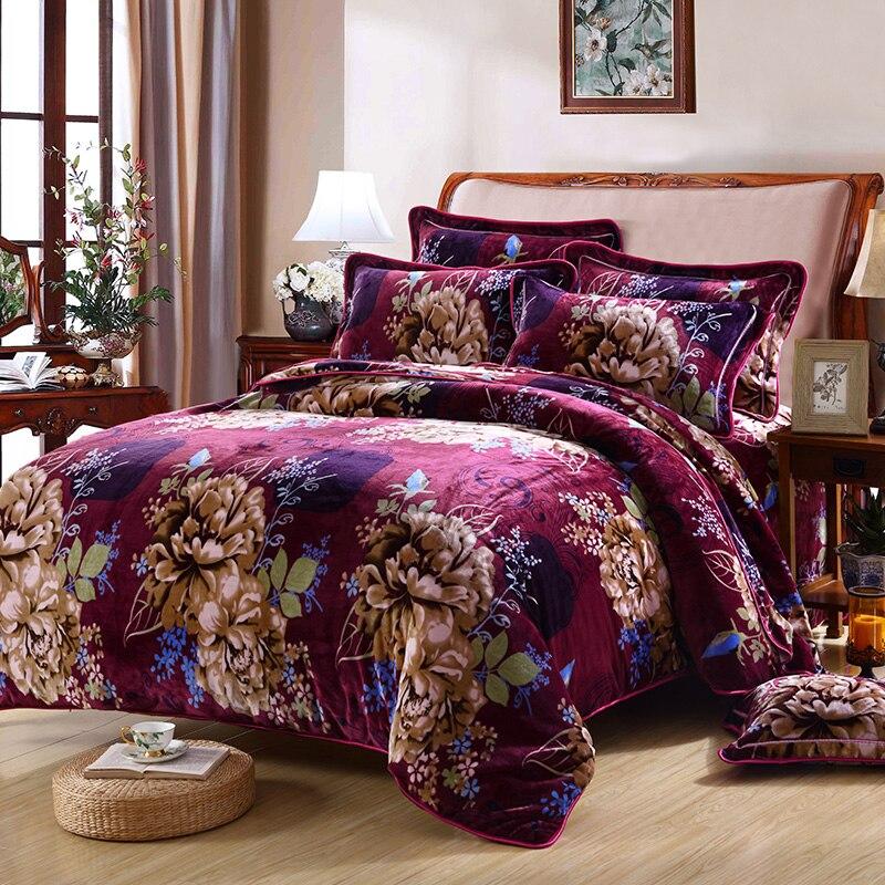 2017 IvaRose Winter fleece Fabric Butterfly bedding set