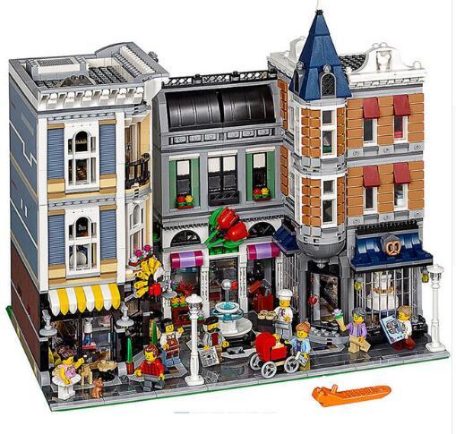 DHL LP 15019, 4002 piezas de la Asamblea Plaza creador Ciudad Modelo de la serie Kits de construcción de ladrillo legoings juguetes clon 10255 bloques de construcción