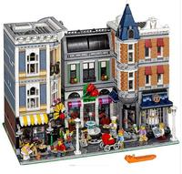 DHL LP 15019 4002Pcs Assembly Square Creator City Series Model Building Kits Brick legoings Toys Clone 10255 building blocks