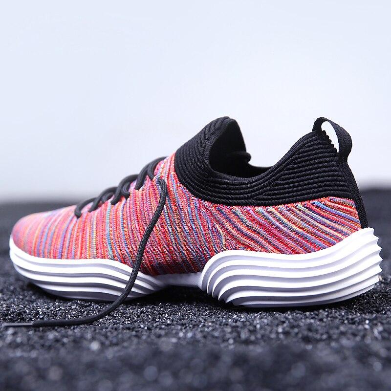 2018 Nova Malha Respirável Running Shoes para Homens Verão Colorido Masculino Sapatos de Caminhada Leve Meia Dardo Homens Das Sapatilhas Sapatas Do Esporte