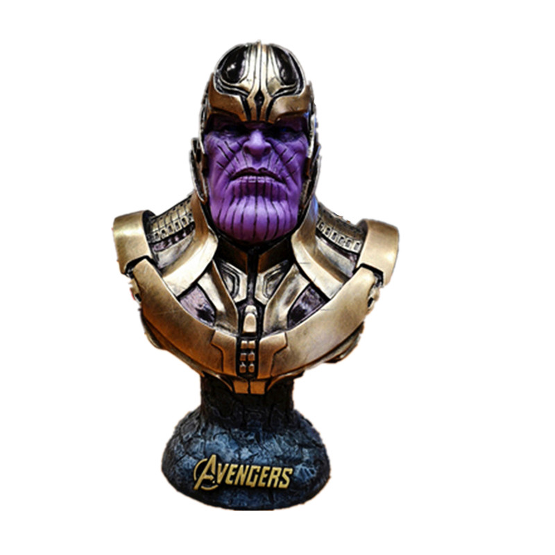 Avengers:Infinity War Supervillain Thanos 1/2 Bust Resin Statue Decoration Action Figure Collection Model Toy X522Avengers:Infinity War Supervillain Thanos 1/2 Bust Resin Statue Decoration Action Figure Collection Model Toy X522