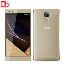 "100% New Original Huawei Honor 7 Hisilicon Kirin 935 Octa Core FDD LTE 4G 20MP 64GB ROM 1920X1080P Android 5.0 Mobile Phone 5.2"""