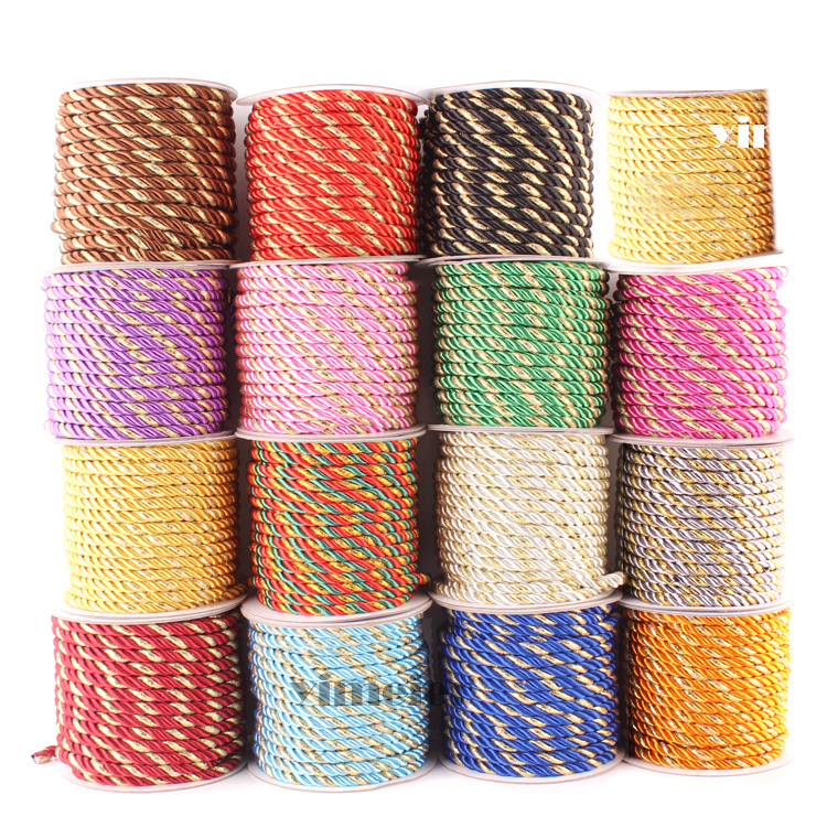 5mm Twisted Decorative Rope Twisted Cord Braided Rope Cusion