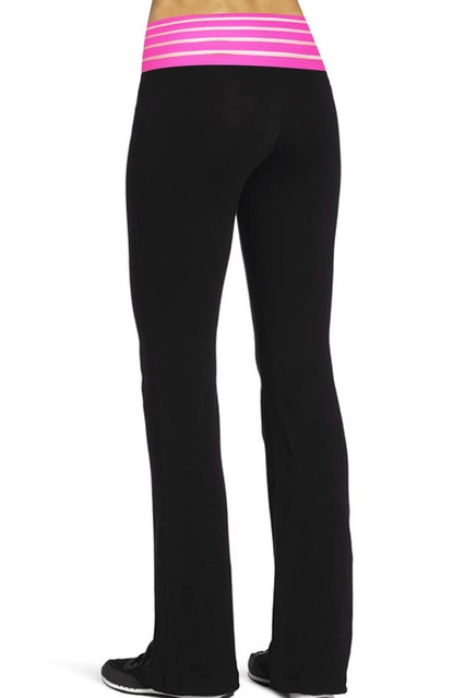 7167195e3e2c3f Women's Yoga pant High Waist Elastic Pants Famale Fitness Sports Running  Flare Gym leggings ladies Active Bootleg 31inch Inseam