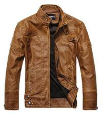 Autumn And Winter Men's Suede Leather Jacket Young Men's Casual Leisure Short Section Slim Fur Pu Leather Clothing