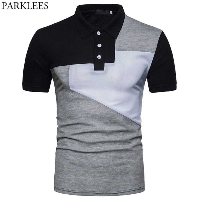 Mens Hipster Hit Color   Polo   Shirt 2018 Summer New Slim Fit Short Sleeve   Polos   Para Hombre Casual Brand Tops Tee Shirt Homme 2XL