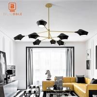 Modern LED Pendant Chandelier Lights For Living Room Dining Room Whtie/Black/Gold PVC Chandelier Lamp Fixtures
