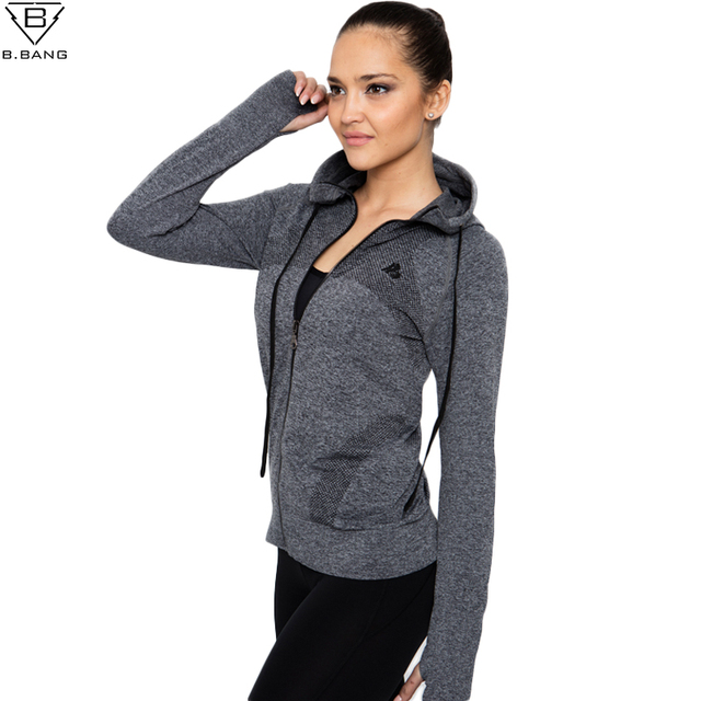 B.BANG 2016 New Women Sport Jacket Quick dry Long sleeved Running ...