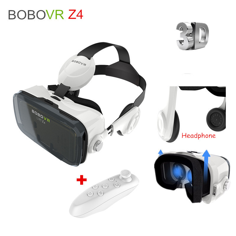 "BOBOVR Z4 Virtual Reality Goggles Mobile 3D <font><b>Video</b></font> <font><b>Glasses</b></font> <font><b>VR</b></font> Headset Cardboard for iPhone Android 4.7-6""+Bluetooth Controller"