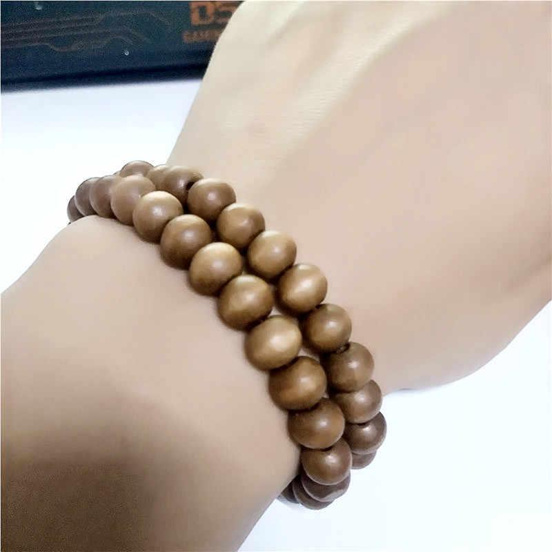 2019 hot pulseira estilo Étnico grânulo de madeira pulseira trecho colo pequeno cores cadeia pulseira de contas para as mulheres e homens jóias