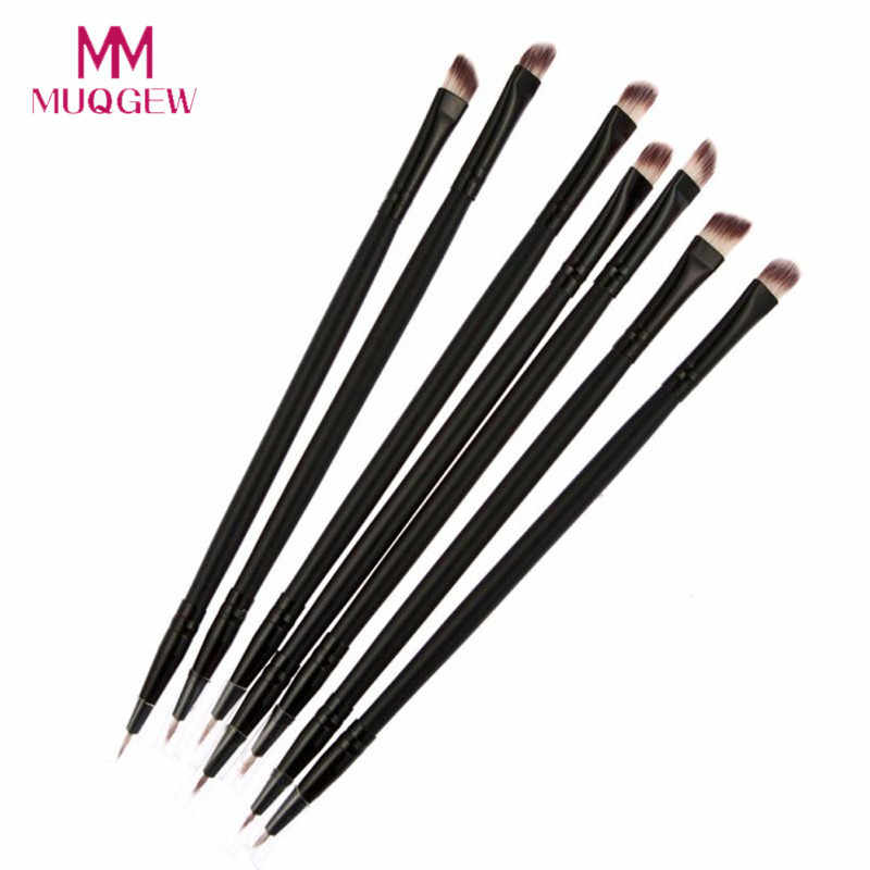 MUQGEW Black Double-headed Eye Shadow Brush +Eyeliner Brush 2018 NEW Professional Make up Brushes pinceaux maquillage HD006