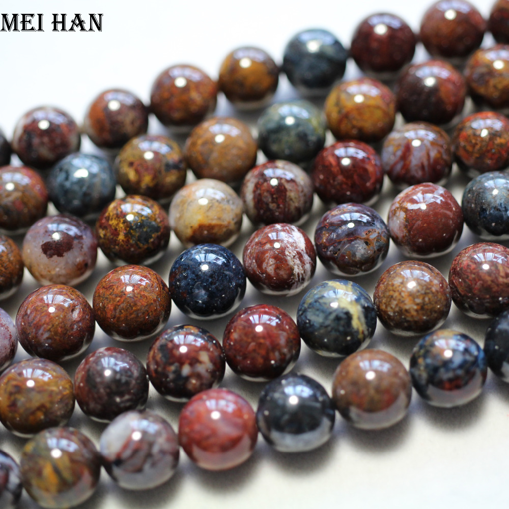 Image 3 - Meihan wholesale natural 10mm 12mm (1strand /set) amazing rare Pietersite smooth round beads stone for jewelry making DIY designbeads stonestones for jewelrystones for jewelry making -