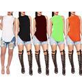 FUNOC Moda Das Senhoras Das Mulheres Sem Mangas Verão Solto Camisa Casual Tops Vest Blusa Y1