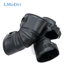 LMoDri Motorcycle Warm Kneepad Motorbike Riding Knee Pads Windproof Winter Outdoor Knee Protective Guard PU Leather Waterproof