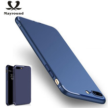 MAYROUND Dirt-resistant Plain Matte Super Thin And Slim Back Skin Cover For Apple iPhone 8 Plus Shell Silicone Flexible Fundas(China)
