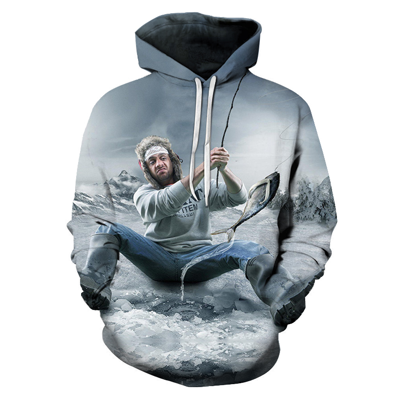 Anime Hoodies fish 3D print Hoodies Men Sweatshirts Male Pullover 2018 Hot Sale Tracksuits Brand Drop Ship ZOOTOP BEAR Brand