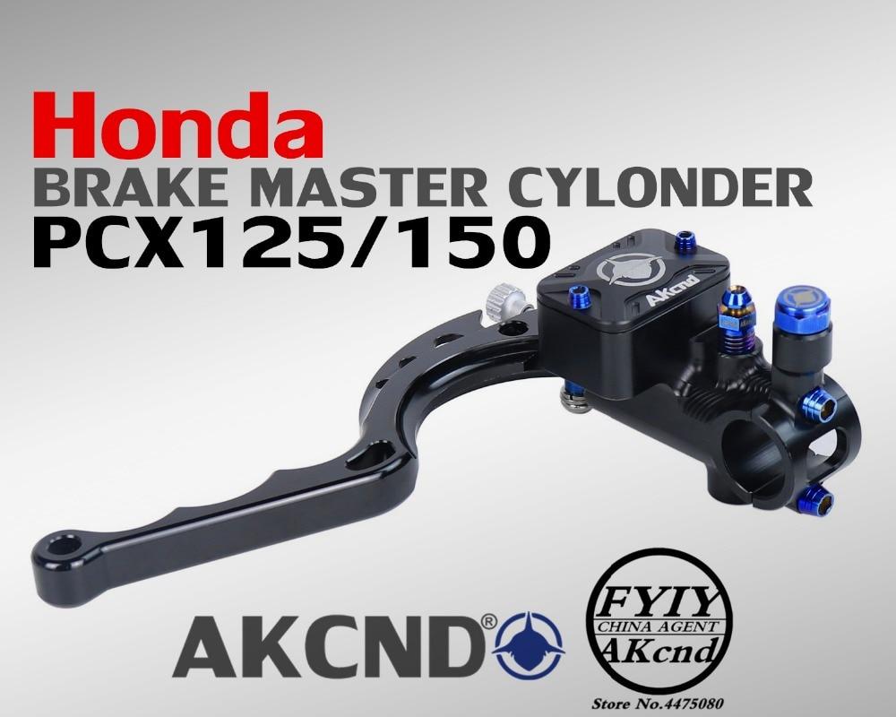 AKcnd 17.5mm Motorcycle Brake Clutch Master Cylinder Hydraulic Pump handle For Handa pcx 125 150 master cylinder