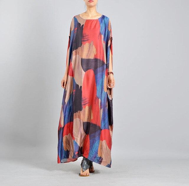 Plus Size Dress Real Silk Hot New Loose Elegant 2018 Summer Dress Plus big  Large size womens dress Vestidos party dress Vestidos-in Dresses from ...