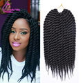 "12"" 12Roots Ombre Braiding Hair Kanekalon Crochet Senegalese Twist Hair 75g/pack Havana Mambo Twist Crochet Braid Hair Extension"