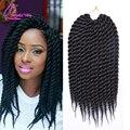 "12"" 12Roots Ombre Braiding Hair Kanekalon Crochet Senegalese Twist Hair 75g/pack Havana Mambo Twist Crochet Braid Hair Extension"
