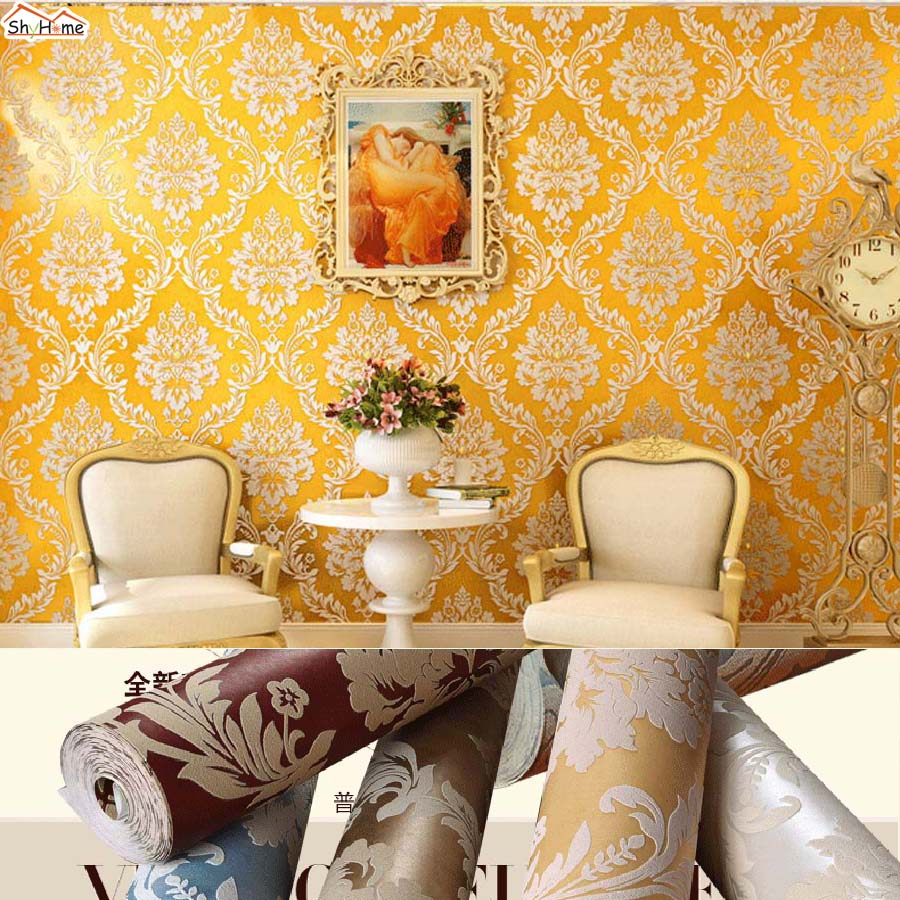 ShineHome  Luxury Antique Golden Patten Embossed Wallpaper Background Mural Rolls Wallpapers for Livingroom Wall Paper Decal shinehome black and white zebra strips wallpaper 3d photo rolls for walls 3 d livingroom wallpapers mural roll paper background