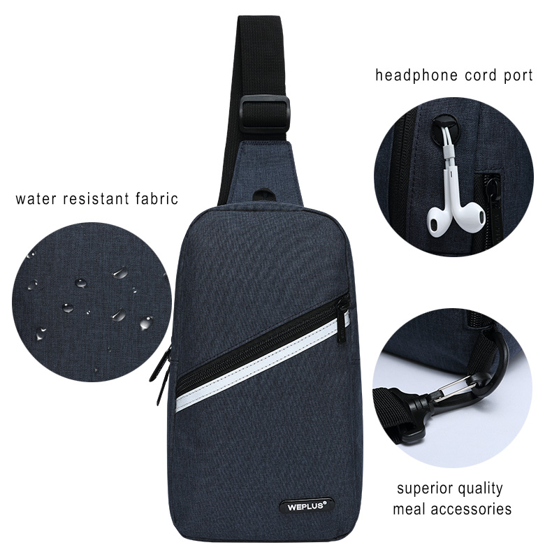Crossbody Bags for Men Messenger Chest Bag Pack Casual Bag small Nylon Single Shoulder Strap Pack for women wholesale male black 4