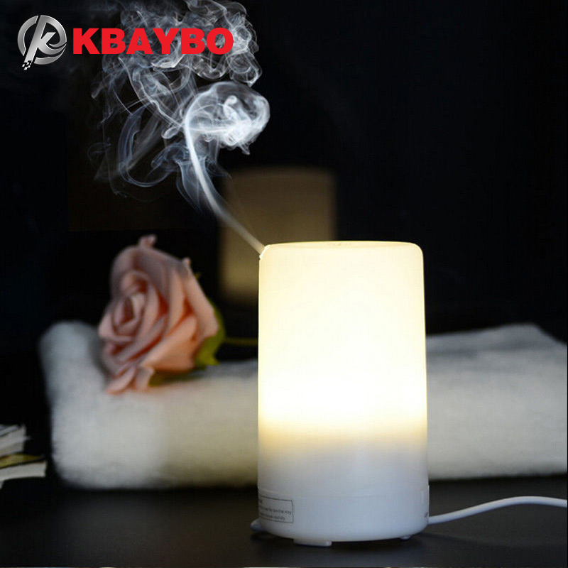USB Essential Oil Diffuser Ultrasonic Humidifier Portable Aromatherapy Diffuser,Car Aroma Diffuser Mist Color Changing LED Light 100ml 3d light essential oil aroma diffuser ultra quiet portable ultrasonic humidifier aromatherapy 12w 100 240v
