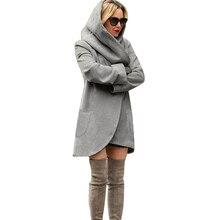 2017 Womens Winter Long Hoodies Pullover Women Hooded Sweatshirts Sportswear long sleeves windbreaker sudadera mujer 5XL
