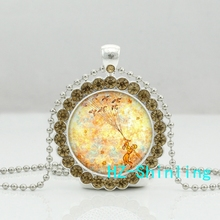New Trendy The Little Prince Crystal Necklace Pendants Anime Picture Jewelry Gifts Children Glass Photo Necklaces Ball Chain