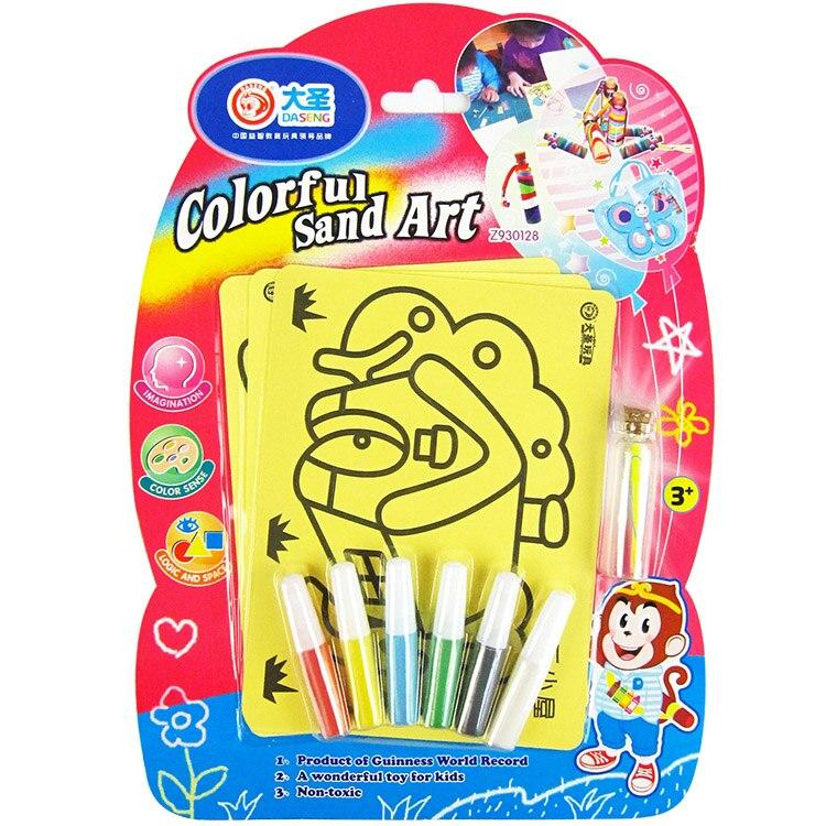 les enfants de grande taille sable peinture avec 6 couleur sable pour enfants jouets ducatifs - Dessin Sable Color