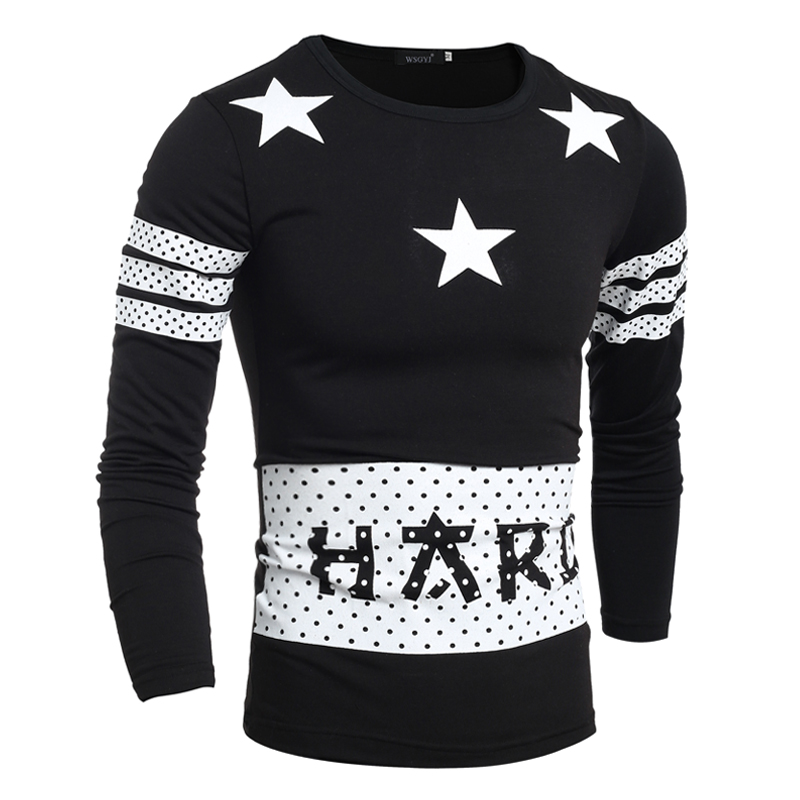 Online Get Cheap T Shirt Men Slim Long Sleeve Star -Aliexpress.com ...