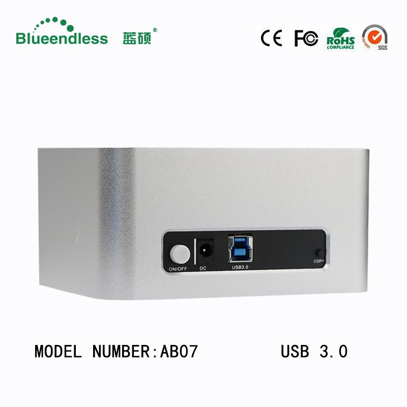 """Prix pour En aluminium Double 2-bay usb3.0 à 6 tb sata Externe Pour 2.5 """"/3.5"""" station d'accueil pour DISQUE DUR duplicateur pour sata hdd jusqu'à 6 tb avec Clone"""