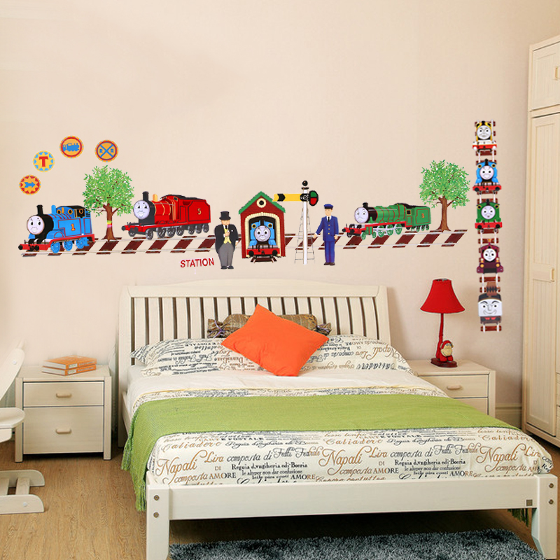 Cartoon Thomas And Friends Child Room Decoration Wall Stickers For Kids  Rooms Boys Decor Wallpaper For Baby Room Wall Sticker
