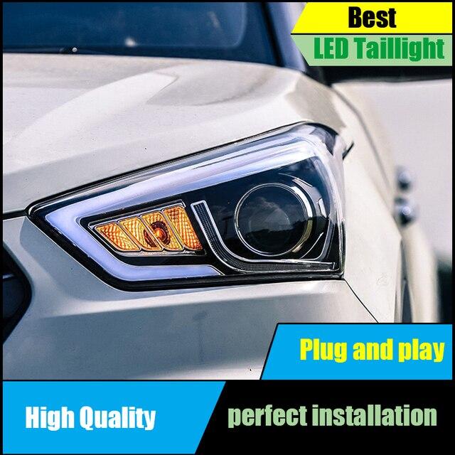 Car Styling Head Lamp For Hyundai Creta Ix25 2017 2016 Headlights Led Light Guide Drl Bi Xenon Low Beam Headlight Embly