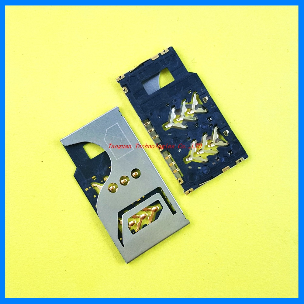 2pcs/lot 100% New SIM card Socket reader Holder Tray Replacement for Alcatel OT986 high quality
