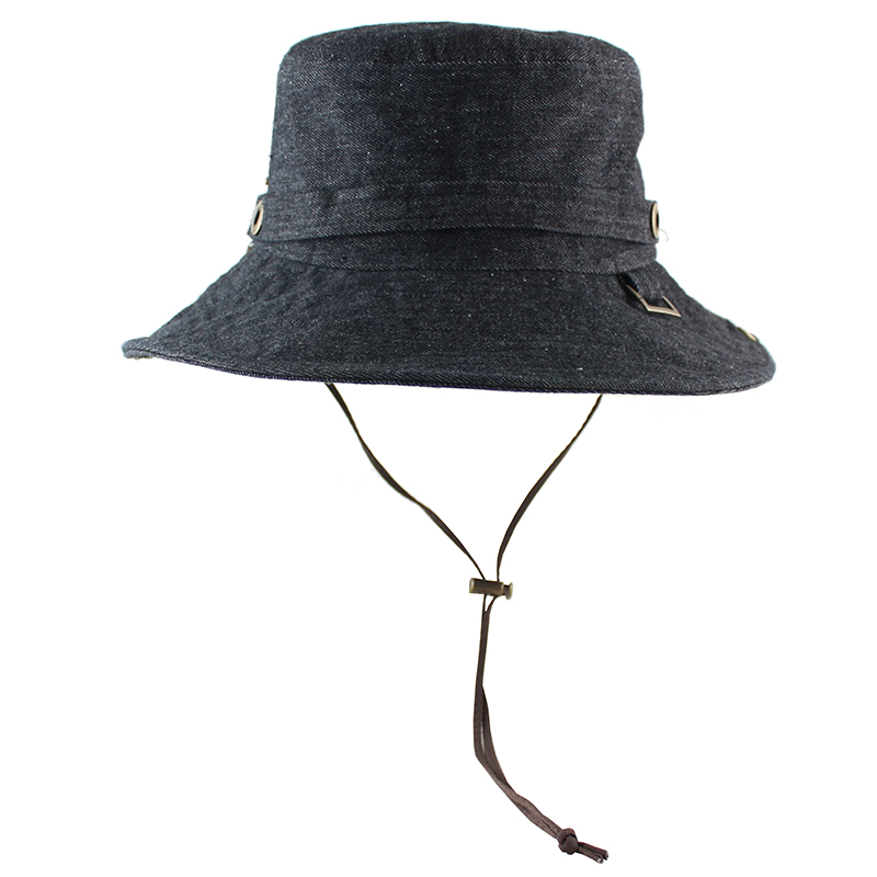 ea5e5c128030 Cotton Sun Hat for Women Men Bucket Denim Spring Summer Fishing Hat Beach  Long Large Wide Brim Outdoor UV Protection Foldable-in Sun Hats from  Apparel ...