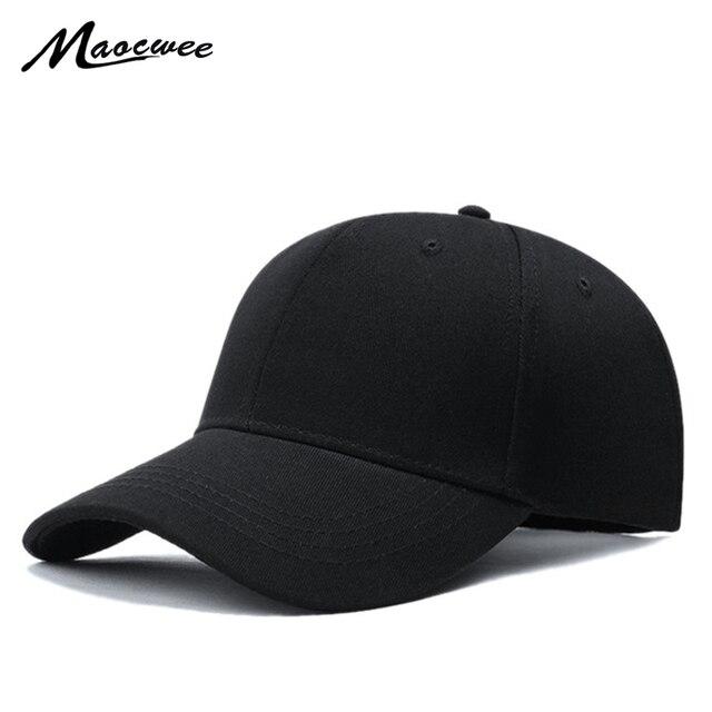 4eb43ec13f598 Clásico 5 panel gorra de béisbol ajustable negro sólido hombres SnapBack  sombrero sombreros de las mujeres