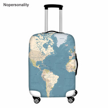 Case Travel-Luggage Protect-Covers Elastic-Trolley Nopersonality for 18--32--Inch World-Map