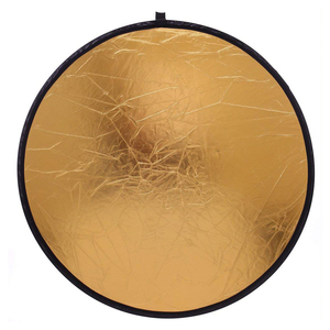 Image 3 - 2 in 1 80cm Light Reflector Portable Collapsible Round Photography Reflector Gold & Silver for Portrait Photography Accessories