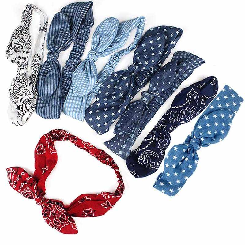 Женские летние милые повязки для волос, повязки на голову с принтом, Ретро стиль, тюрбан, банданы, повязка на голову, аксессуары для волос, головные уборы