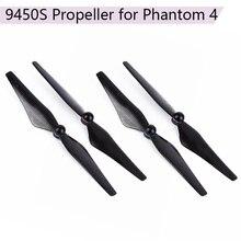 4pc 9.4*5インチの小道具djiファントム4 9450炭素繊維プロペラアルミ合金シートquadcopterブレードアクセサリー