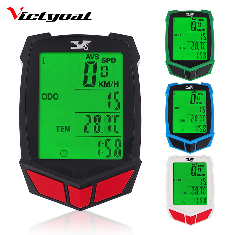 VICTGOAL Wireless Bike Computer Waterproof Speedometer For Bicycle Backlight MTB Multifunctional Odometer Thermometer Stopwatch bicycle computer wired bike computer speedometer digital odometer stopwatch thermometer lcd backlight rainproof