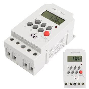Novo Trilho Din LCD Digital Programável Temporizador Eletrônico Interruptor KG316T-II AC 220 V 25A Para Home Appliance